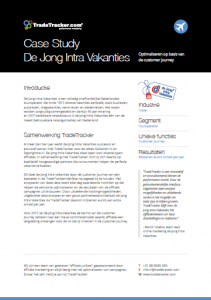 De Jong Intra Vakanties Case study